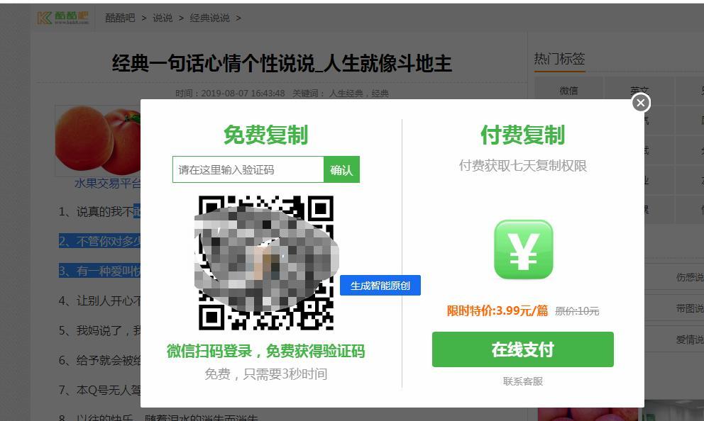 收费网站复制方法